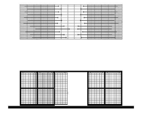 Arca modulo doppio in sezione